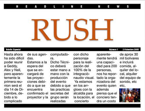 RUSH NEWS 1