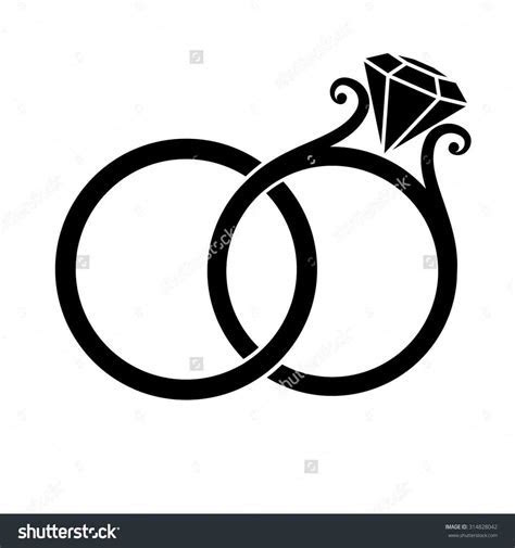 interlocking wedding rings vector   Weddings