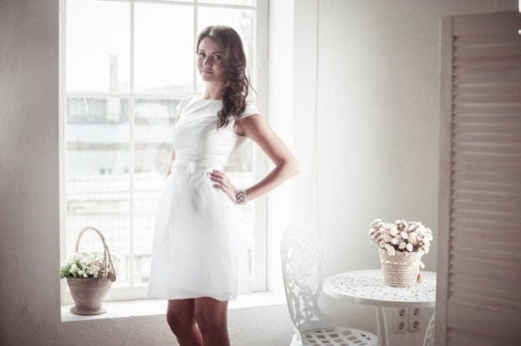Short wedding dress M10