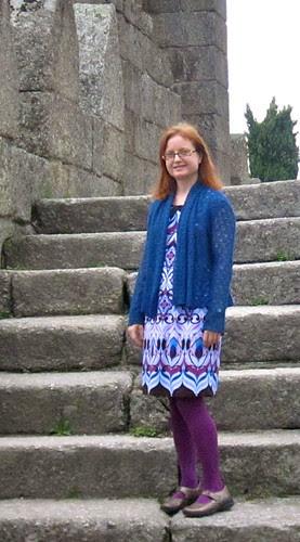 Blue Wool Cardi Front