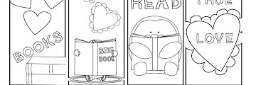 Valentines Day Bookmarks Coloring Pages