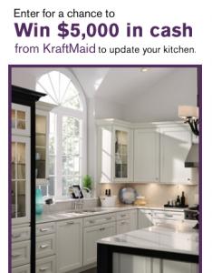 """HGTV """"KraftMaid Kitchen Inspiration Sweepstakes"""" – Win $5,000!"""