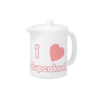 I Heart Cupcakes teapot