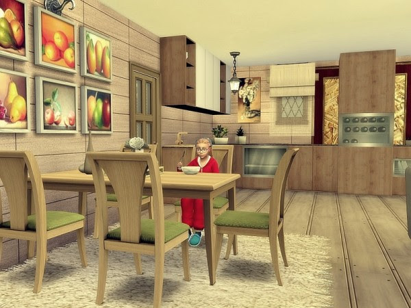 The Sims Resource: Sunflower house by Nessca • Sims 4 ...