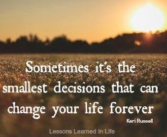 Decisions quote via www.Facebook.com/LessonsLearnedInLife