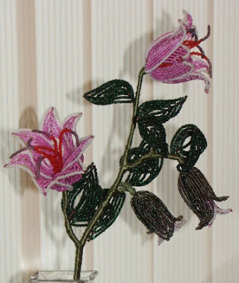 бисер цветы