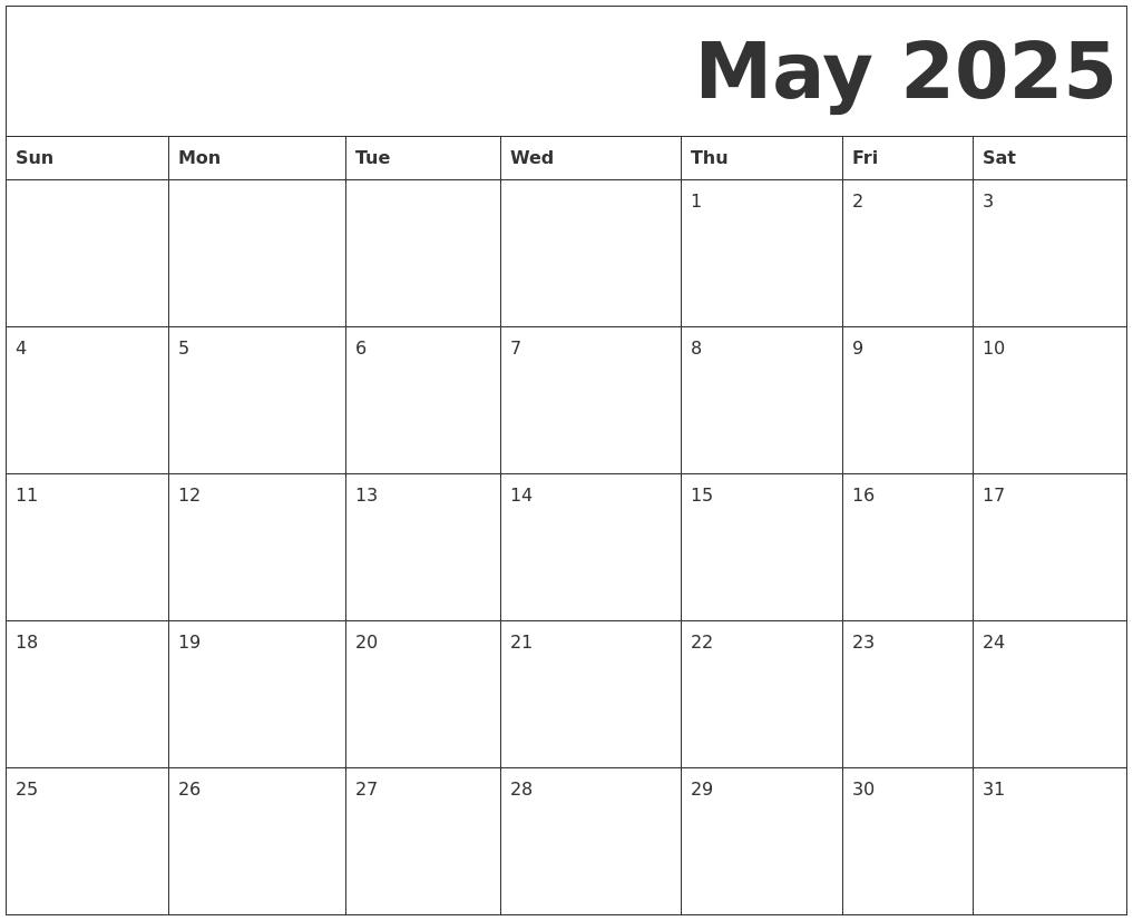 may 2025 free printable calendar