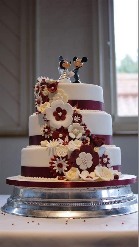 Disney Theme 3 Tier Wedding Cake   Bakealous