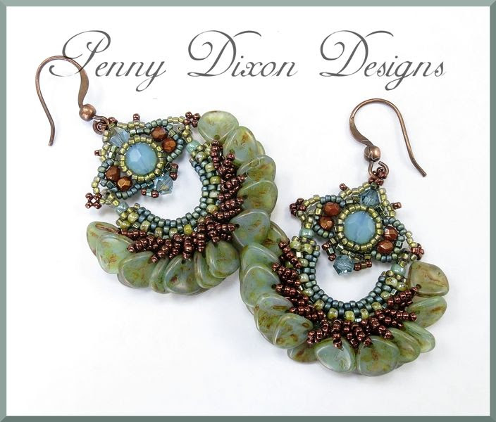 """Yafa"" petal earrings made the cover of Beadwork Magazine"
