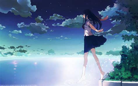 Anime School Girl Wallpaper ? Chrome Geek