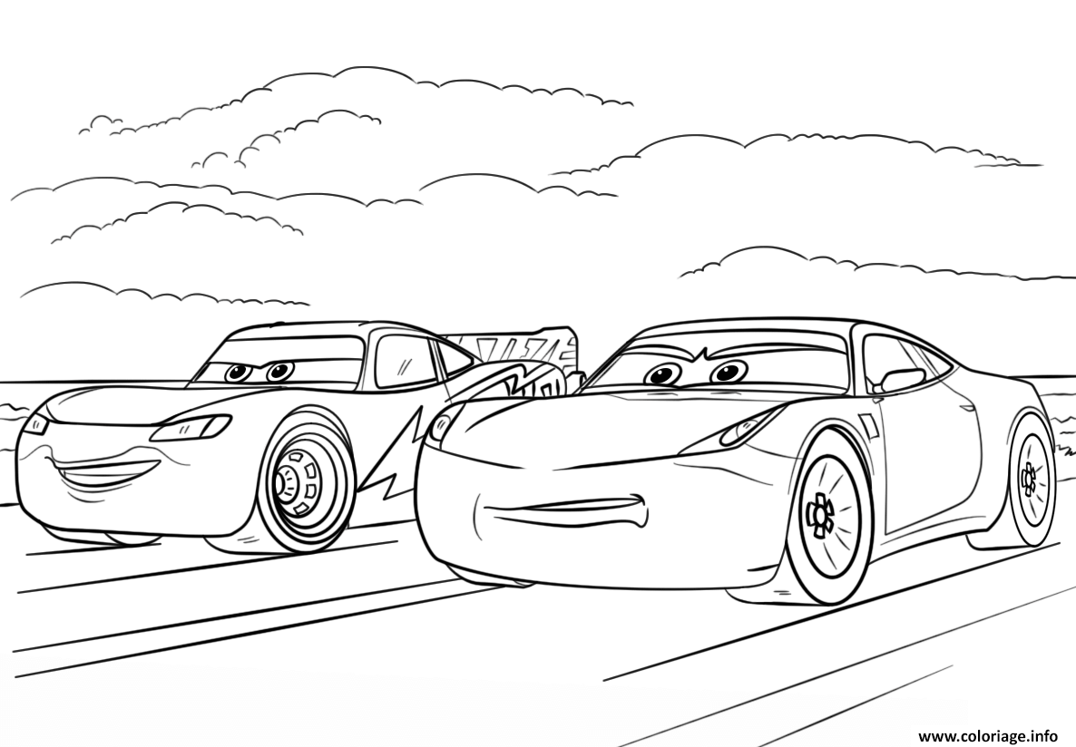 Coloriage Mcqueen And Ramirez From Cars 3 Disney Dessin   Imprimer