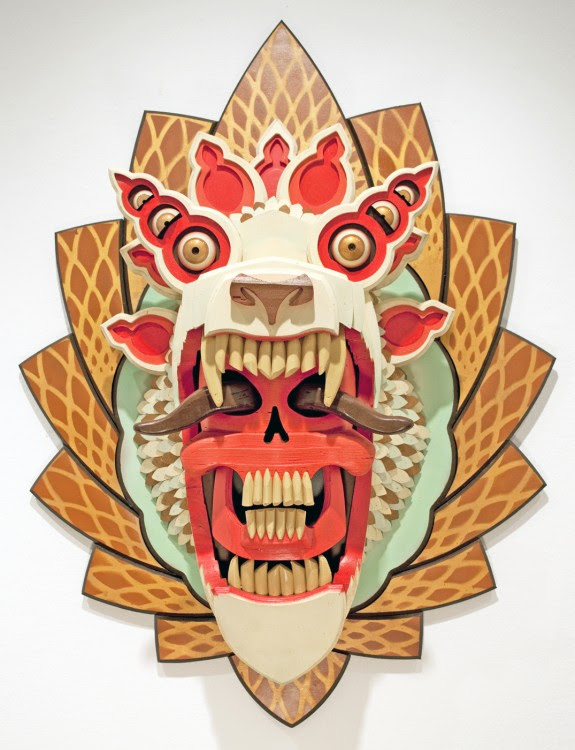 masque aj fossik 05 575x750 Les monstres en relief dAJ Fosik  art