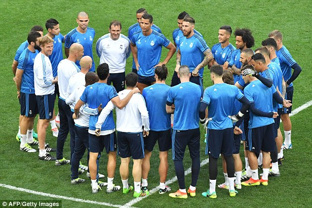 The Real Madrid players gear up for Saturday's Champions League final against rivals Atletico Madrid