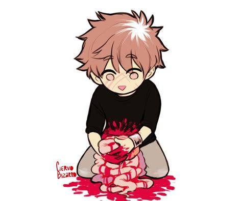 bloody anime boy guro   pinterest arte
