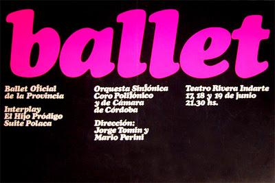 afiche ballet