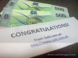 P1000 Gift Certificate Prize from Sulit.com.ph's 1M Members Raffle Giveaway