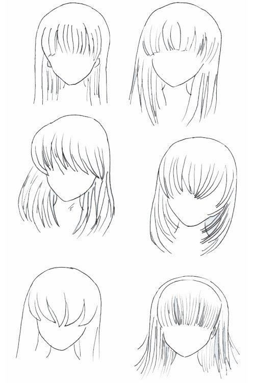 Dessin Manga Cheveux Fille Les Dessins Et Coloriage