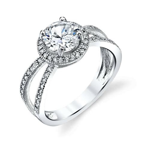 carat total sterling silver bridal cz engagement wedding