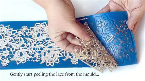 TUTORIAL: How to make perfect edible lace for cakes   YouTube