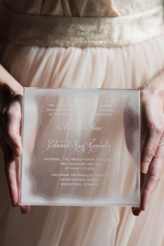Acryl-Hochzeits-Einladung für ein ice-inspirierten winter-Hochzeit