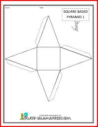3D Geometric Shapes NETS - Prisms and Pyramids Printable * Free ...