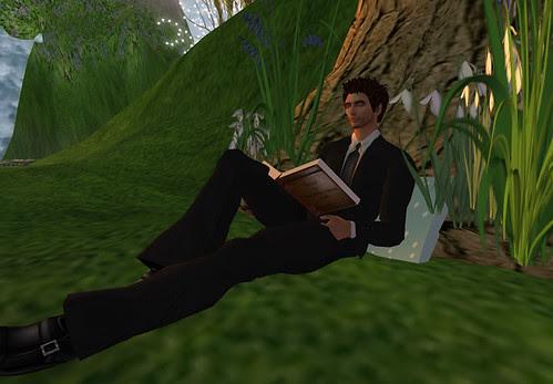 He reads. :)