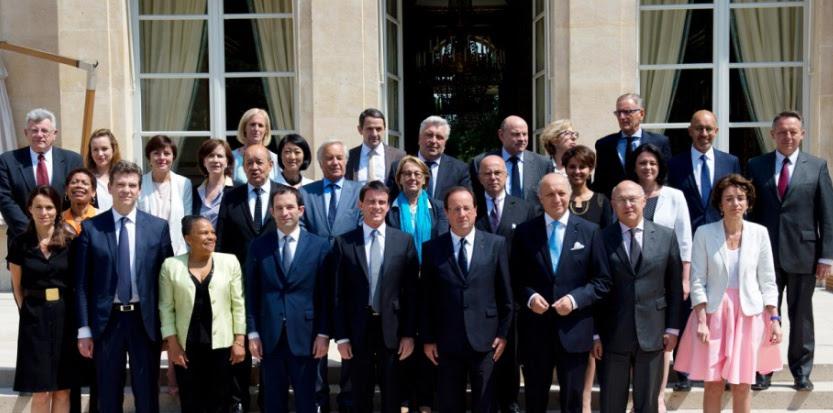 Photo de famille du gouvernement de Manuel Valls, le 18 juin dernier