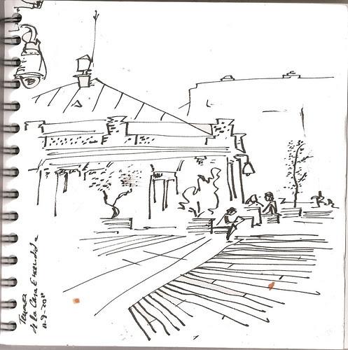 En la terraza de La Casa Encendida, Madrid