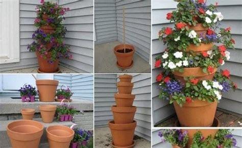 diy  terra cotta pot flower tower diy flower flower