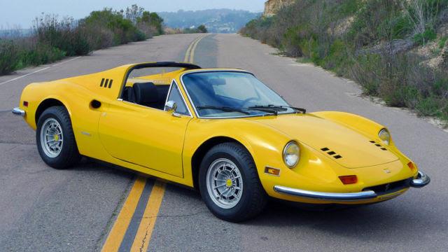 Ferrari 246 GTS Convertible 1973 Yellow For Sale. 1973 ...