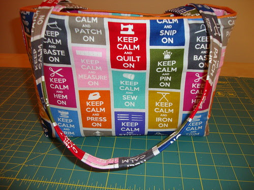 simplicity 8331 Keep Calm bag done!