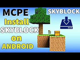 How to Download & Install Skyblock in MCPE on Android | Skyblock Kaise Khele on Minecraft PE