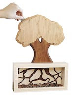 Money Tree Coin Bank Woodworking Plan - fee plans from WoodworkersWorkshop® Online Store - coin banks,trees,full sized patterns,woodworking plans,woodworkers projects,blueprints,drawings,blueprints,how-to-build