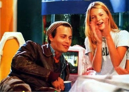 LE FASHION BLOG JOHNNY DEPP KATE MOSS JOHNNY AND KATE INSPIRATION BED T SHIRT LEATHER JACKET BEANIE STRIPES SHOW 6