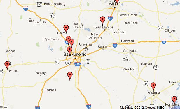 Map Of Uvalde Texas