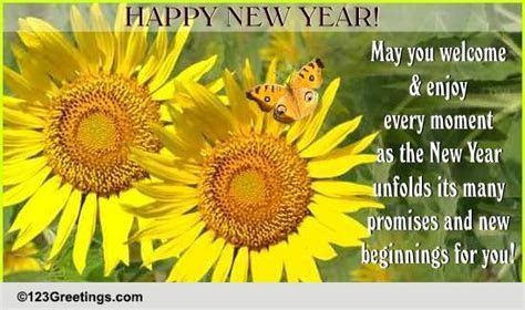 New Year Blessings  Free Inspirational Wishes eCards