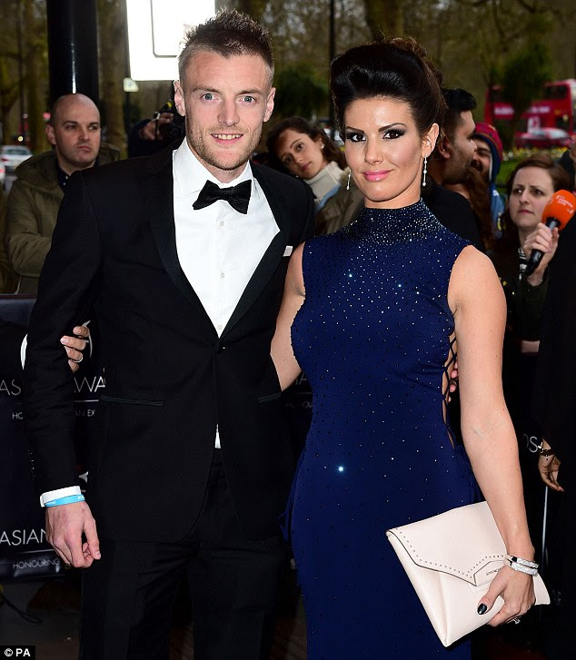 Jamie Vardy attends 2016 Asian Awards with girlfriend ...