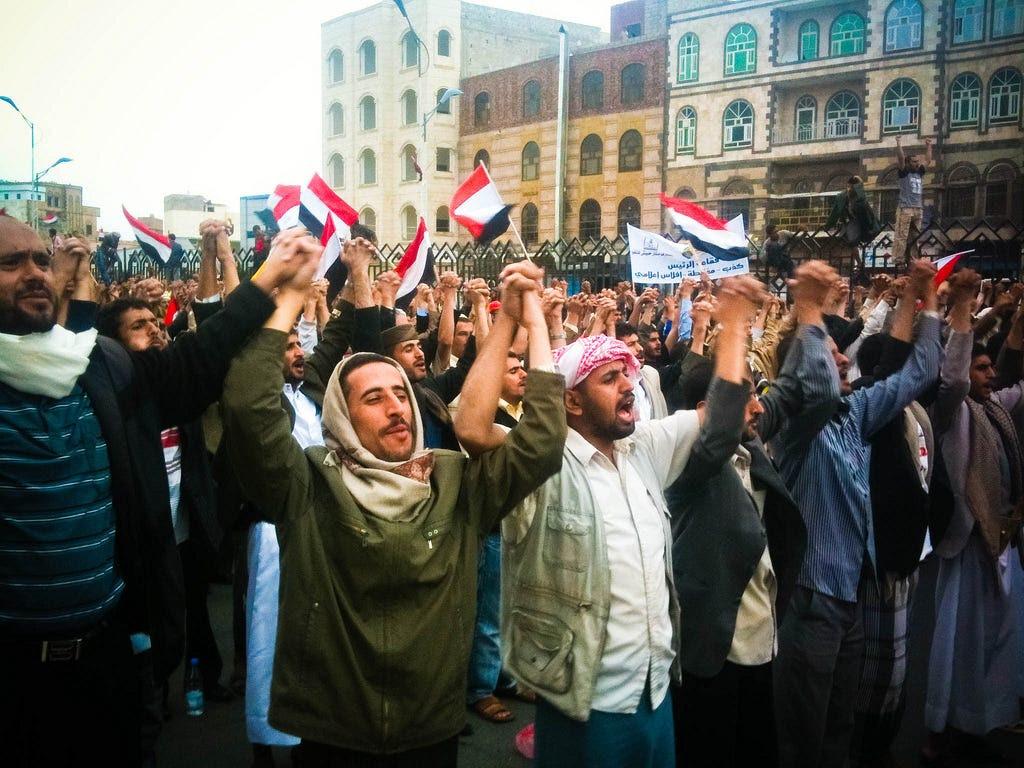 Yemeni Arab Spring protesters 2011