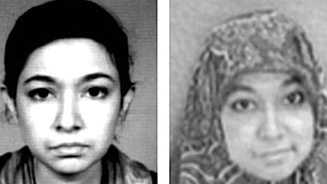Lady al Qaeda ... mother-of-three Aafia Siddiqui (pictured left and right) is serving 86