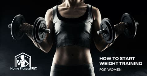 start weight training  women home fitness life