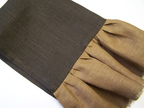 tea towel and contrasting ruffle