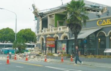RUBBLE OF what had been Christchurch Chabad House