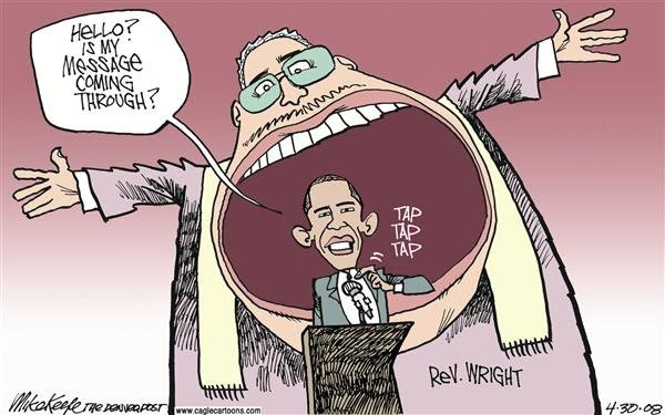 Image result for obama and rev wright cartoons