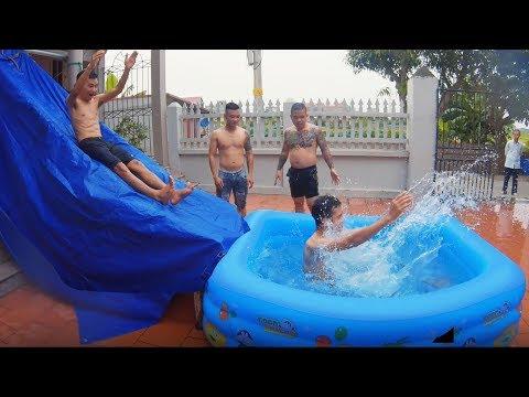 PHD | Chế Tạo Máng Trượt Nước Tại Nhà | Phần 2 | Water Slides