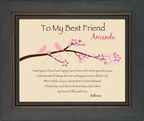 BEST FRIEND Gift   Personalized print for Best Friend