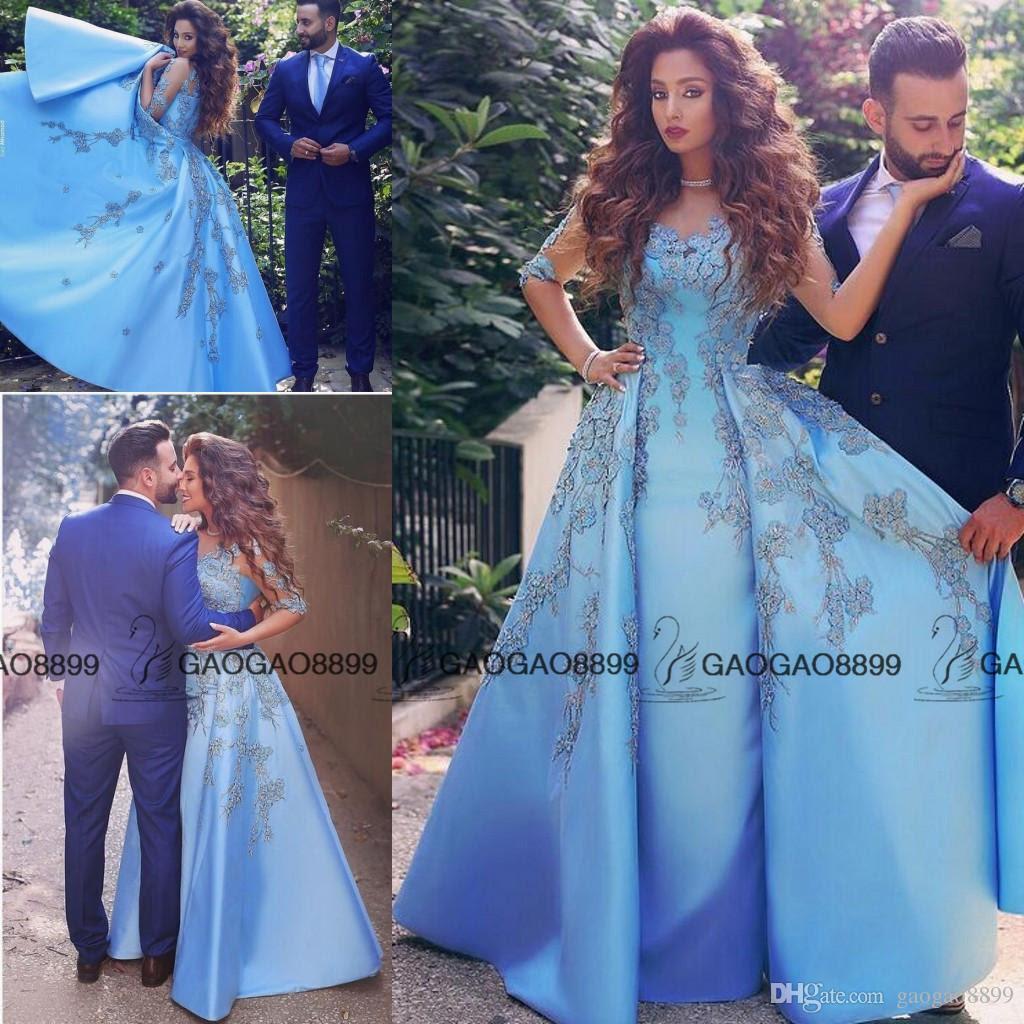elegant baby blue prom dresses 2016 lace