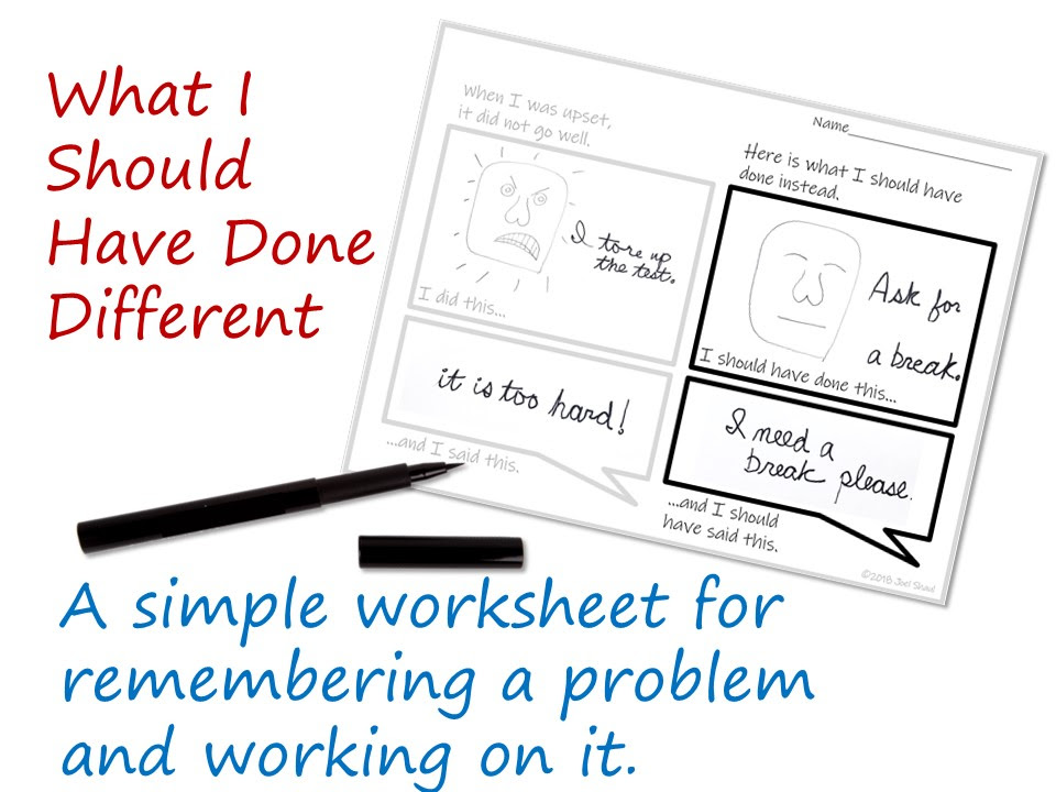 What I Should Have Done Different A Simple Worksheet For Children