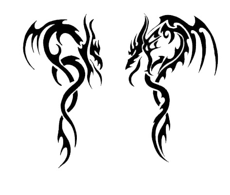 Free Black And White Dragon Tattoos Download Free Clip Art Free