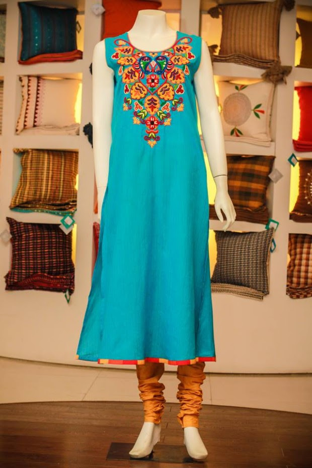 Casual-Lawn-Womens-Girls-Kurta-Kurti-Collection-2013-by-Thredz-for-Ladies-3