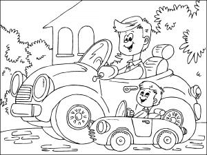 Dibujos De Dia Del Padre Para Colorear Paracolorearnet